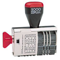"2000 PLUS Dial-N-Stamp 12 Phrases 1 12"" x 18"" (COS010180)"