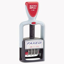 "2000 PLUS Two-Color Word Dater ""Faxed"" Self-Inking (COS011032)"