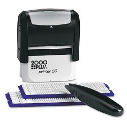 2000 PLUS Create-A-Stamp One-Color Address Kit Custom Message Black (COS030600)