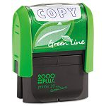 "2000 PLUS Green Line Message Stamp Copy 1 12"" x 916"" Blue (COS035347)"