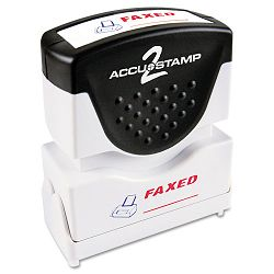 "Accustamp2 Shutter Stamp with Microban RedBlue FAXED 1 58"" x 12"" (COS035533)"