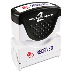 "Accustamp2 Shutter Stamp with Microban RedBlue RECEIVED 1 58"" x 12"" (COS035537)"