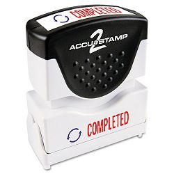"Accustamp2 Shutter Stamp with Microban RedBlue COMPLETED 1 58"" x 12"" (COS035538)"