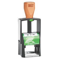"2000 PLUS Green Line Self-Inking Heavy Duty Stamp 1 14"" x 58"" Black (COS039307)"