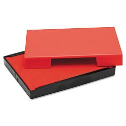 "Trodat T4913 Message Replacement Pad 78"" x 2 38"" Red (USSP4913RE)"