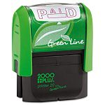 "2000 PLUS Green Line Message Stamp Paid 1 12"" x 916"" Red (COS035350)"