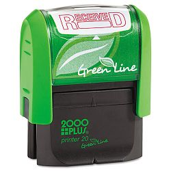 "2000 PLUS Green Line Message Stamp Received 1 12"" x 916"" Red (COS035352)"
