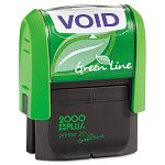 "2000 PLUS Green Line Message Stamp Void 1 12"" x 916"" Blue (COS035353)"