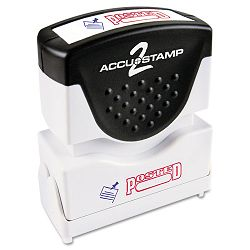 "Accustamp2 Shutter Stamp with Microban RedBlue POSTED 1 58"" x 12"" (COS035521)"