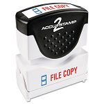 "Accustamp2 Shutter Stamp with Microban RedBlue FILE COPY 1 58"" x 12"" (COS035524)"