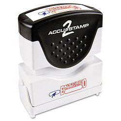 "Accustamp2 Shutter Stamp with Microban RedBlue ENTERED 1 58"" x 12"" (COS035544)"