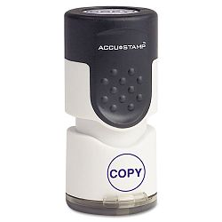"Accustamp Pre-Inked Round Stamp with Microban COPY 58"" dia Blue (COS035653)"