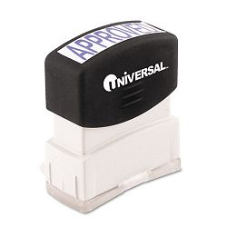 Message Stamp APPROVED Pre-InkedRe-Inkable Blue (UNV10043)