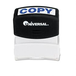 Message Stamp COPY Pre-InkedRe-Inkable Blue (UNV10047)