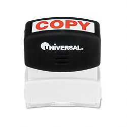 Message Stamp COPY Pre-InkedRe-Inkable Red (UNV10048)