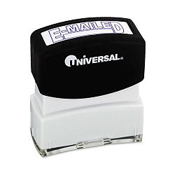 Message Stamp E-MAILED Pre-InkedRe-Inkable Blue (UNV10058)