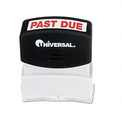 Message Stamp PAST DUE Pre-InkedRe-Inkable Red (UNV10063)