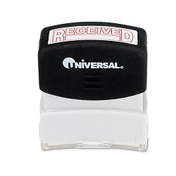 Message Stamp RECEIVED Pre-InkedRe-Inkable Red (UNV10067)