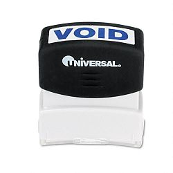 Message Stamp VOID Pre-InkedRe-Inkable Blue (UNV10071)