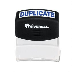 Message Stamp DUPLICATE Pre-InkedRe-Inkable Blue (UNV10100)