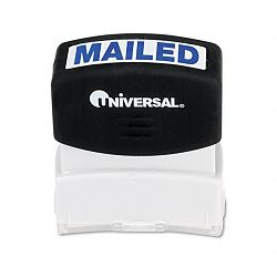 Message Stamp MAILED Pre-InkedRe-Inkable Blue (UNV10105)