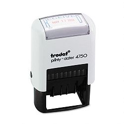 "Trodat Economy Stamp Dater Self-Inking 1 58"" x 1"" BlueRed (USSE4752)"