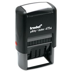 "Trodat Economy 5-in-1 Stamp Dater Self-Inking 1 58"" x 1"" BlueRed (USSE4754)"