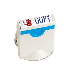 Premium Two-Color Message Stamp COPY Re-Inkable BlueRed (USS4705)