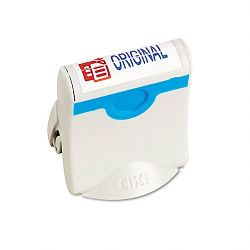 Premium Two-Color Message Stamp ORIGINAL Re-Inkable BlueRed (USS4716)