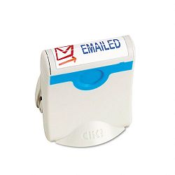 Premium Two-Color Message Stamp E-MAILED Re-Inkable BlueRed (USS4718)