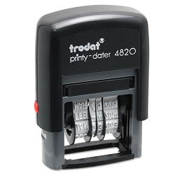 "Trodat Economy Stamp Dater Self-Inking 1 58"" x 38"" Black (USSE4820)"