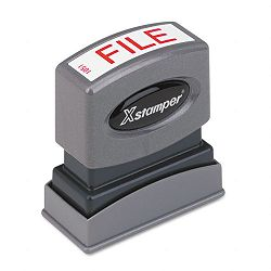 Title Message Stamp FILE Pre-InkedRe-Inkable Red (XST1051)
