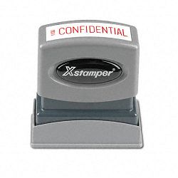 Title Message Stamp CONFIDENTIAL Pre-InkedRe-Inkable Red (XST1130)