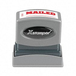 Title Message Stamp MAILED Pre-InkedRe-Inkable Red (XST1218)