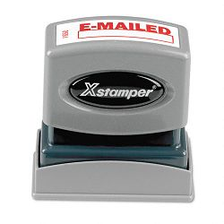 Title Message Stamp E-MAILED Pre-InkedRe-Inkable Red (XST1650)