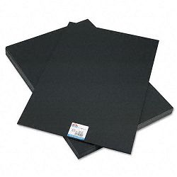 "CFC-Free Polystyrene Foam Board 20"" x 30"" Black Surface and Core Carton of 10 (EPI951120)"