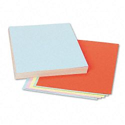 "Assorted Colors Tagboard 12"" x 9"" BlueCanaryGreenOrangePink Pack of 100 (PAC5171)"