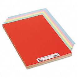 "Assorted Colors Tagboard 18"" x 12"" BlueCanaryGreenOrangePink Pack of 100 (PAC5173)"