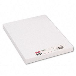 "Medium Weight Tagboard 12"" x 9"" White Pack of 100 (PAC5281)"