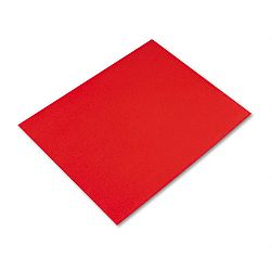 "Colored Four-Ply Poster Board 28"" x 22"" Red Carton of 25 (PAC54751)"