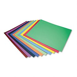 "Four-Ply Railroad Board in Ten Assorted Colors 28"" x 22"" Carton of 100 (PAC5487)"