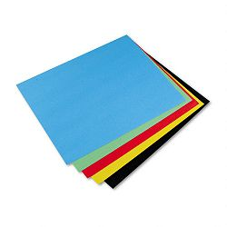 "Colored Four-Ply Poster Board 28"" x 22"" Assortment Carton of 25 (PAC54871)"