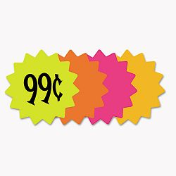 "Die Cut Paper Signs 4"" Round Assorted Colors Pack of 60 Each (COS090249)"