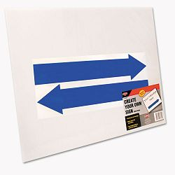 "Stake Sign Blank White Includes Directional Arrows 15"" x 19"" (COS098055)"