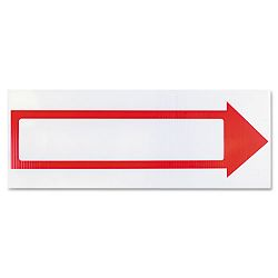 "Stake Sign 6"" x 17"" Blank White with Printed Red Arrow (COS098056)"