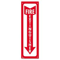 "Glow-In-The-Dark Safety Sign Fire Extinguisher 4"" x 13"" Red (COS098063)"