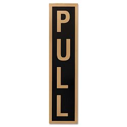 "Business Decal Sign PushPull 1-12"" x 4"" BlackGold (COS098078)"