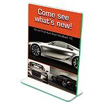 "Superior Image Premium Green Edge Sign Holder Acrylic 8-12"" x 11"" Clear (DEF5991790)"