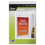 "Clear Plastic Sign Holder Wall Mount 11"" x 17"" (NUD38017Z)"