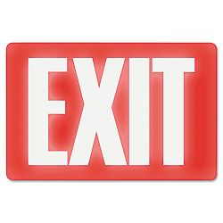 "Glow In The Dark Sign 8"" x 12"" Red Glow Exit (USS4792)"